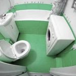 Если в хрущевке объединить ванную комнату и туалет, получается боле-менее пристойное по размерам помещение