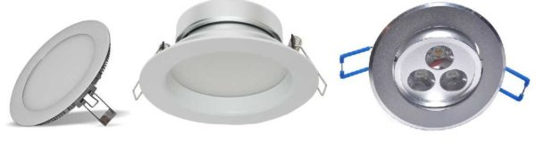 Светодиодные светильники имеют небольшую высоту, так что потолок можно опускать на небольшую высоту