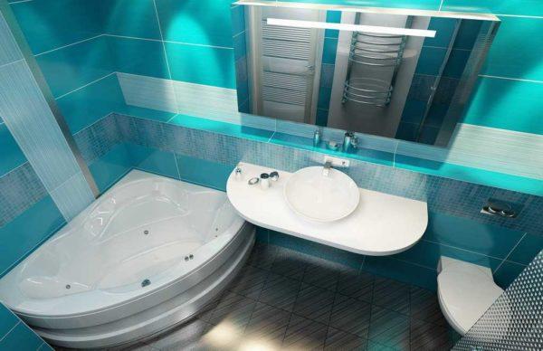 Маленькая ванна тоже может быть красивой