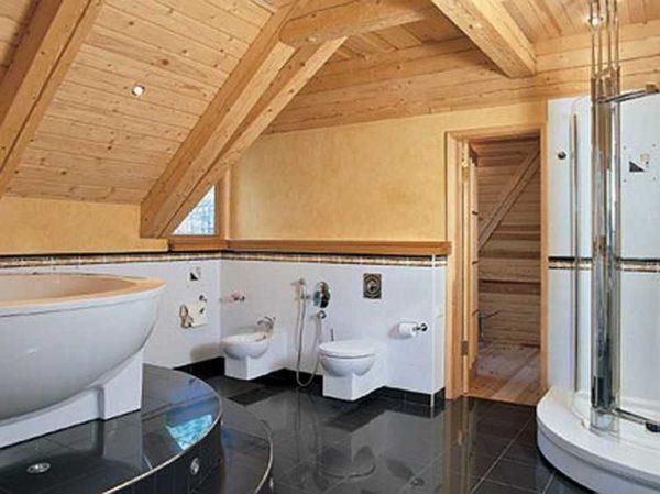 Ванная комната в деревянном доме - простор для фантазии