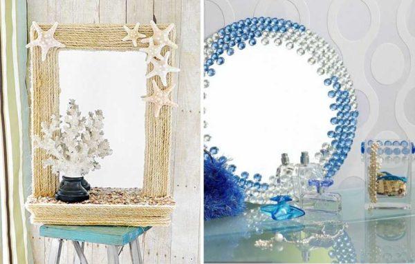 Декор зеркала своими руками можно сделать под любой стиль