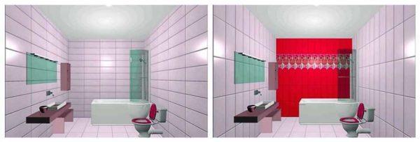 Бордюр из декоративной плитки ближе к потолку делает помещение более высоким