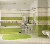 Сочетание плитки в ванной разных цветов и фактур