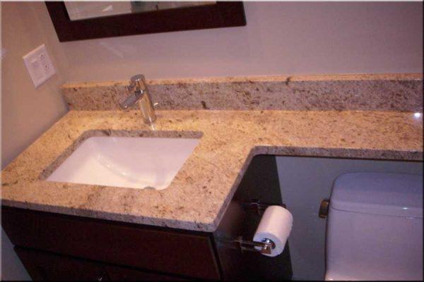 Столешница для ванной комнаты под раковину для маленьких ванных комнат