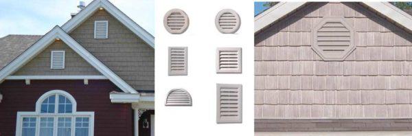 Вентиляционные решетки на фронтоне