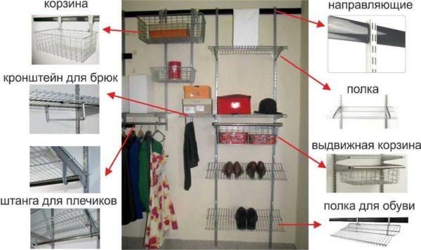 Разные приспособления помогают рационально организовать хранение