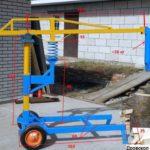Уже готовый самодельный дровокол с пружиной с указанными размерами