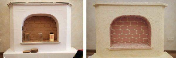 Вот такой получился камин из картона