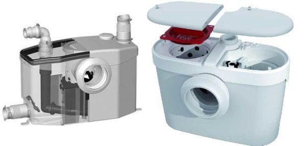 Примеры канализационных насосов для унитаза и ванной