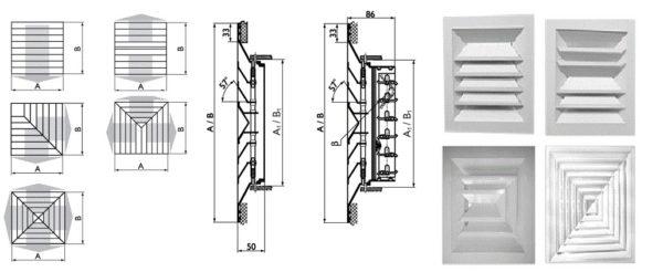 Щелевые потолочные диффузоры и направление распространения воздуха