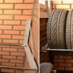 Полка для хранения шин - отличная самоделка для гаража