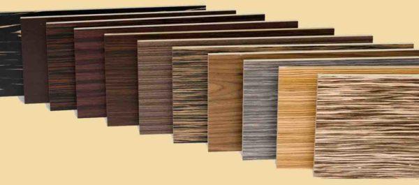 МДФ может быть покрыт слоем шпона или пленкой ПВХ с повторением структуры древесины