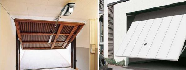 Подъемно-поворотные автоматические ворота - требуется место под потолком