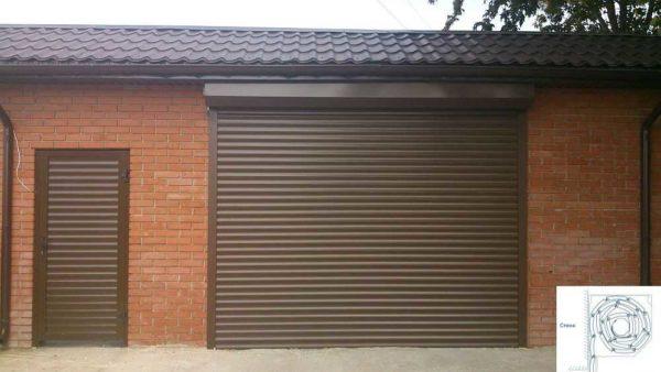 Рулонные автоматические гаражные ворота - решение для тех гаражей, для которых противовзломные характеристики не важны