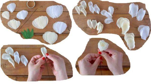 Цветы из гофрированной бумаги своими руками: делаем розу