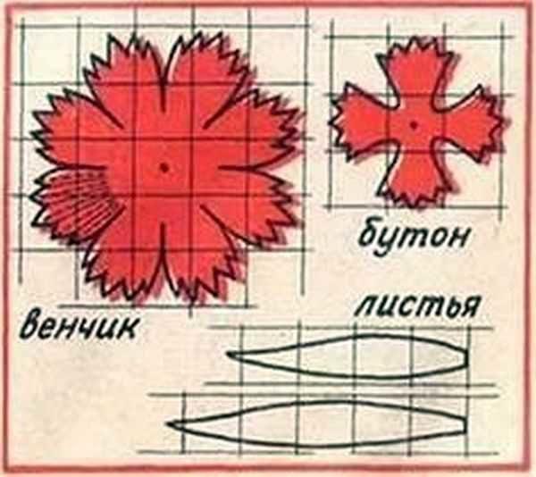 cveti-iz-gofrirovannoj-bumagi-41-4-600x534 Гофрированная бумага, применение, виды, изготовление