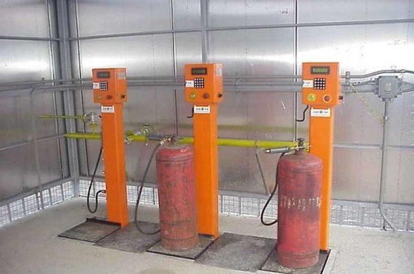 Заправочные колонки для газовых баллонов
