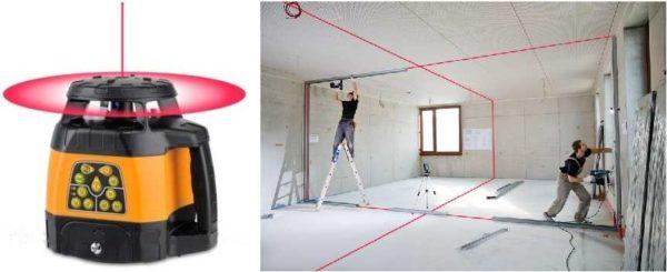 Ротационные лазерные уровни разворачивают плоскость на 360°