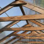 Усиление стропил тепличной крыши