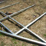 Чертеж теплицы из поликарбоната с двухскатной крышей