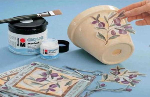 Даже обычный цветочный горшок можно превратить в арт-объект