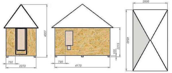 Если зимы многоснежные, придется делать высокие скаты, а крышу - шатровой