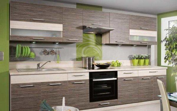 Модульная кухня эконом класса из ЛДСП тоже может быть в современном стиле