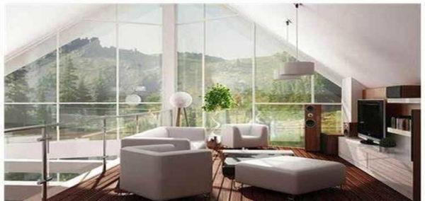 Дом с панорамными окнами: вид изнутри