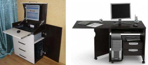 """Компьютерный стол может быть """"спрятан"""" в комоде"""