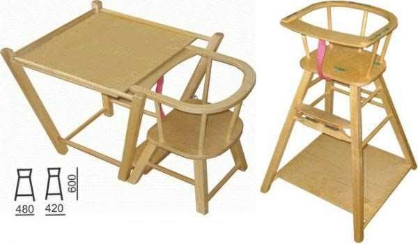 Этот раскладной высокий детский стульчик выпускался еще 30 лет назад. Сегодня он не менее удобен чем раньше