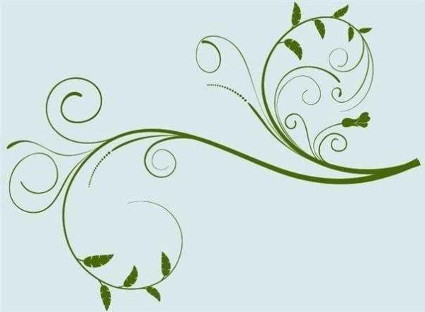 Растительные узоры - ненавязчиво и спокойно