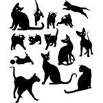 Трафареты для стен под покраску: котики - беспроигрышный вариант