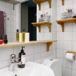Деревянные аксессуары для ванной комнаты - работают на контрасте