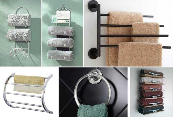 Держатель для полотенец в ванной нужен двух типов: для банных и для рук