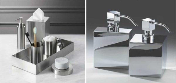 Матовая или полированная нержавеющая сталь - эти аксессуары для ванной можно передать даже внукам