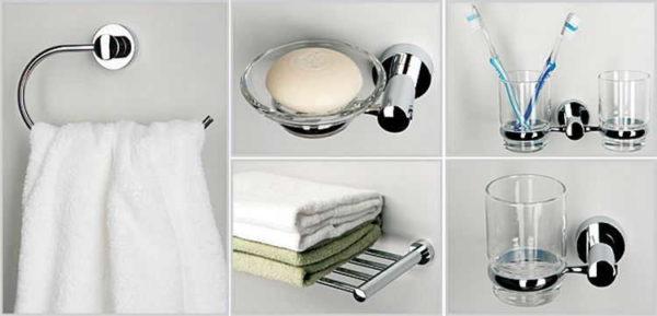 Аксессуары для ванной комнаты и туалета, которые размещают возле умывальника