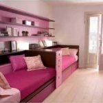 Бежево-коричневые тона, якая фуксия и приглушенный розовый - идеальное сочетание для комнаты девочки