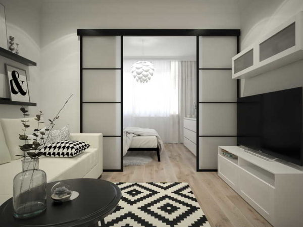 Для маленькой гостиной спальни надо продумать все до мелочей