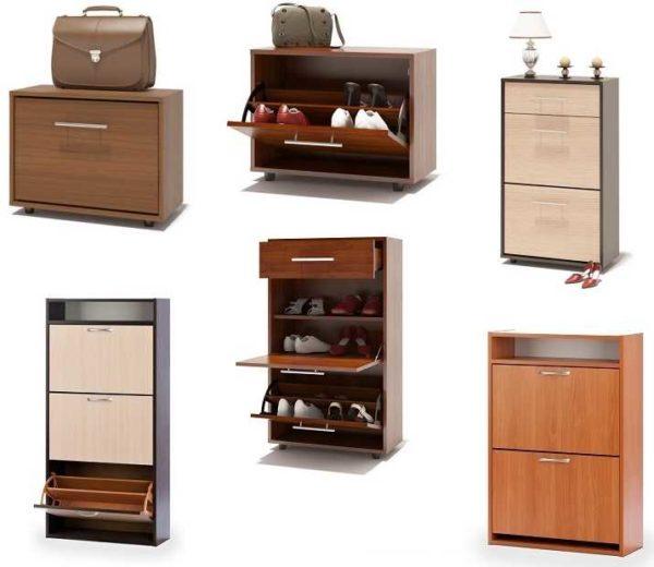 Шкафы или комоды для обуви - вот название калошниц закрытого типа