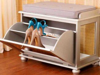 Так устроен комод для обуви откидного типа