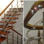 Металлические лестницы с пластиковыми перилами - один из самых практичных и долговечных вариантов