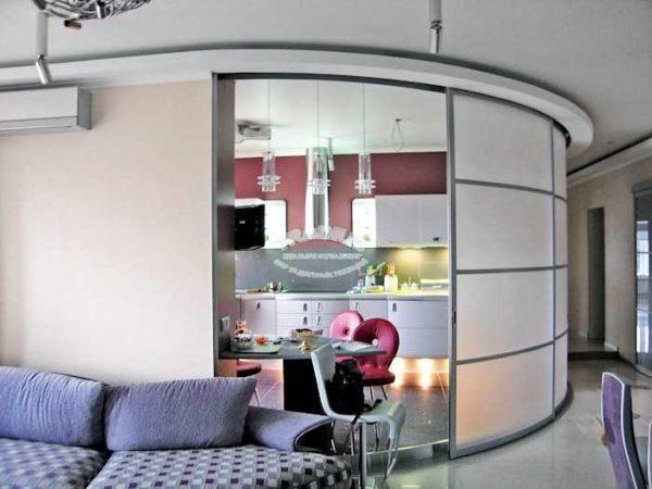 Молочное стекло, округлые фрагменты - красиво, стильно