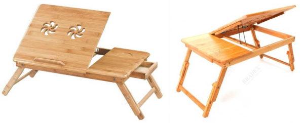 Этот столик для кровати можно использовать и как подставку под ноутбук