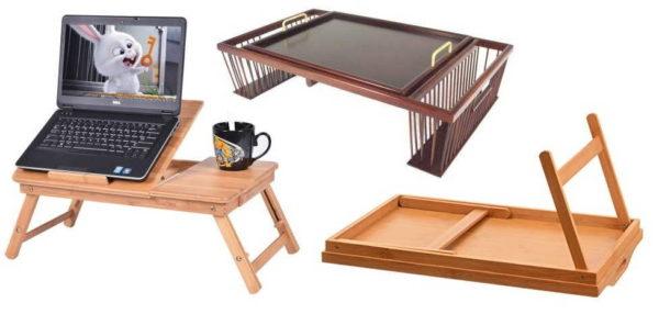 Даже у такой несложной мебели, как кроватный столик для завтрака может быть много разновидностей
