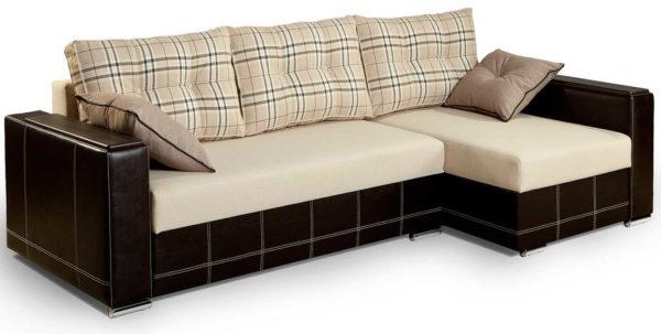 Стационарный угловой диван - из двух соединяемых частей
