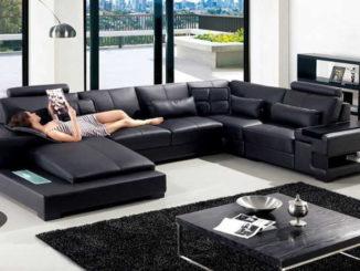 П-образный диван тоже относится к разряду угловых