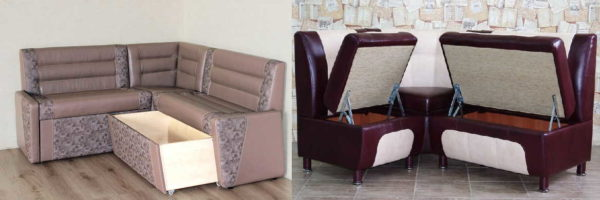 Современные модели кухонных диванов