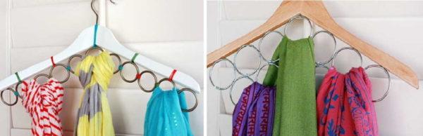 Идеи для дома: как хранить шарфы