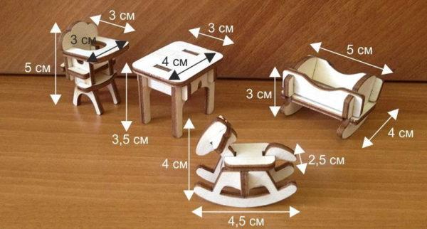 Примерные размеры мебели для кукольных детей