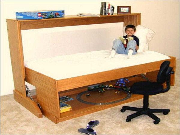Мини-стенка с подъемной кроватью/столом для детской